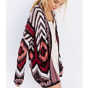 URBAN OUTFITTERS Aztec Cardigan Sweater